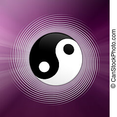 Yin and Yang symbol - illustration of Yin and Yang symbol