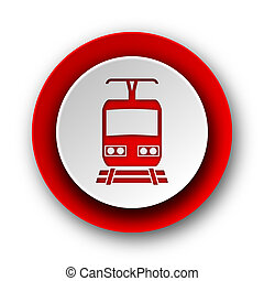 train red modern web icon on white background