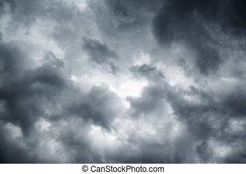 Stormy grey cloudy sky background