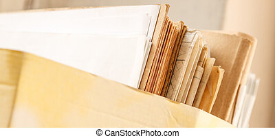 Folder with paper documents