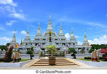 Tibetan white Pagodas
