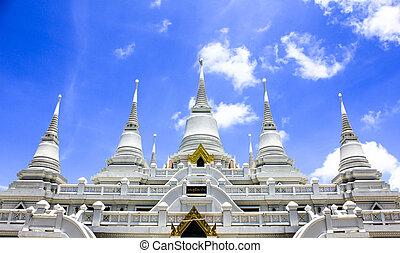 blanco, tibetano,  Pagodas