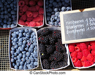 berries in the market - cariety berries in the market,...