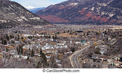 Beautiful scene of Durango, Colorado from the top...