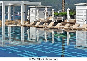 Luxury pool - Part of luxury pool in Porto Montenegro, Tivat...