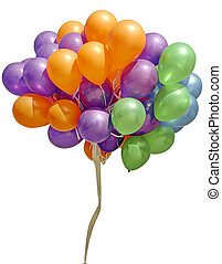 balloons isolated on white(clipping path)
