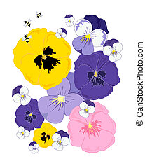 abstract pansies