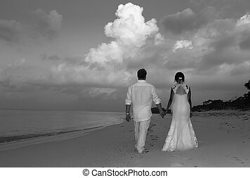 Bride Groom at Beach