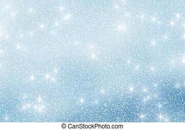 neve, estrelas, Natal, fundo, 6