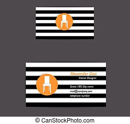 Flat business card design.