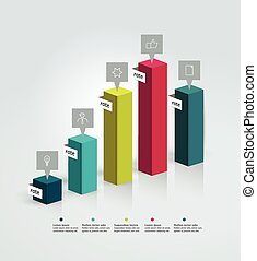 Example of business 3D design graph