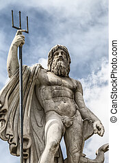 statue of Neptune - Details of the statue of Neptune in...