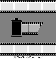 Camera film roll icon. Vector illustration.