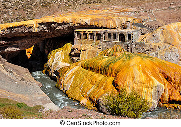Gorgeous Puente del Inca ruins between Chile and Argentina.