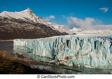 Beautiful landscapes of Perito moreno Glacier, Argentina.