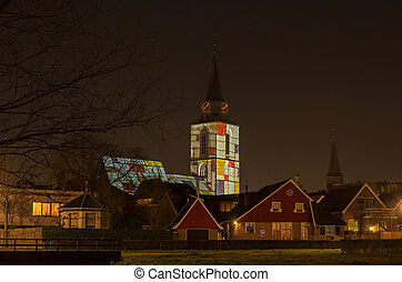 "Dutch church in ""Mondriaan"" light - Jacobs church in..."
