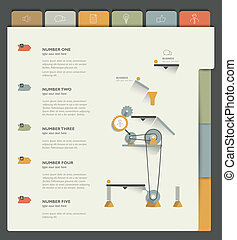 Sample print or web page. Infographics template.