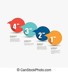 Colorful speech bubbles diagram. - Colorful speech bubbles...