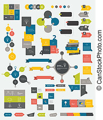 Collections of info graphics . - Collections of info...
