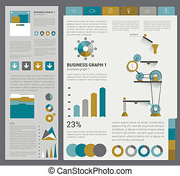 Collection of flat infographics. - Collection of flat...