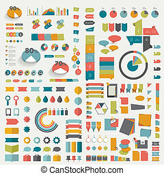 Infographic page template Vector elements
