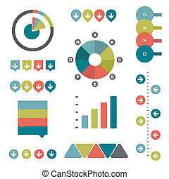 Collection of flat infographics.