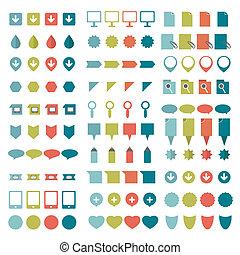 Big set of flat icons.