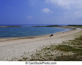 Hikawa beach in Yonaguni Island, Japan Hikawa beach is one...