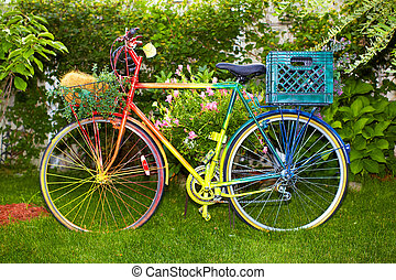 Multi, coloré, Vélo