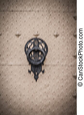 door knocker, Spanish city of Valencia, Mediterranean...