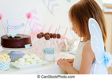 Little fairy on birthday party - Adorable little fairy girl...
