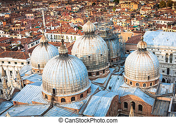 Domes of basilica San Marco in Venice.
