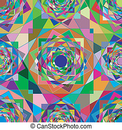 A colorful, kaleidescope pattern - A seamless colorful...