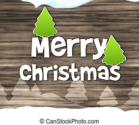 Merry Christmas Wood Texture Background Design - Merry...