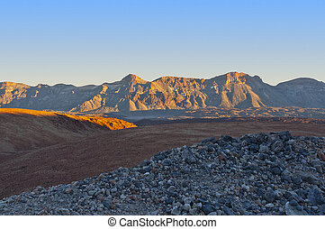 Canary Islands - mountains in the Canary Islands. Teide...