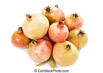 pomegranates fruit isolated on white background