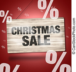 Christmas Sale Creative Design Wood Board - Christmas Sale...