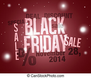 Black Friday Creative Design Illustration - Black Friday