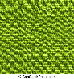 green sackcloth texture closeup