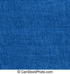 blue sackcloth texture closeup