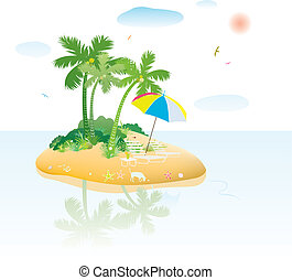tropical island - cute tropical island view