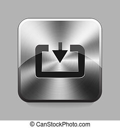 Chrome button - Download cart chrome or metal button or icon...