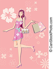 fashion girl pattern