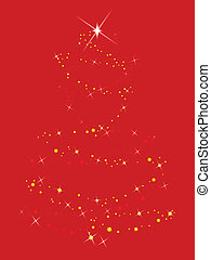 Sparkling Tree - A christmas tree comprising of sparkles and...