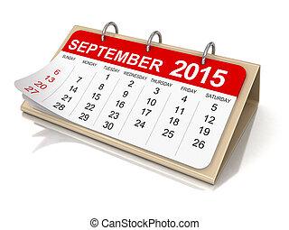 Calendar - September 2015 - Calendar year 2015 image. Image...