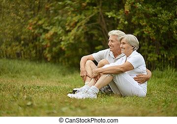 Portrait of senior couple - Portrait of loving elderly...