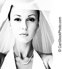 Beautiful bride - Portrait of the beautiful bride in a veil