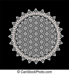 Lace doily - White openwork lace doily on a black background
