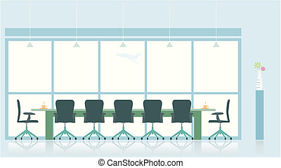 meeting room.created by ilustrator cs.