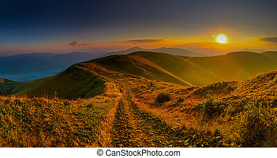 mountains - Sunrise in the mountains in autumn Carpathian